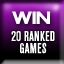 20 Online Ranked Wins