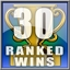 30 Online Ranked Wins Achievement
