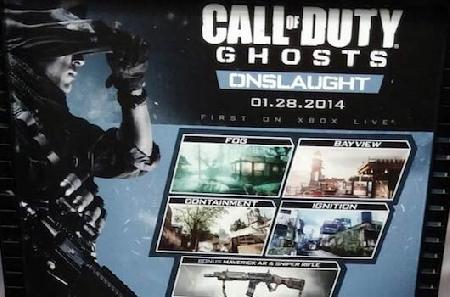 Call of Duty Ghosts Onslaught DLC Release Date