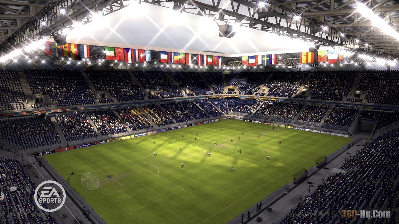 Скриншоты из игры UEFA Euro 2008.